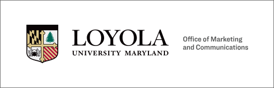 Office of Marketing and Communications text to the right of the horizontal Loyola logo