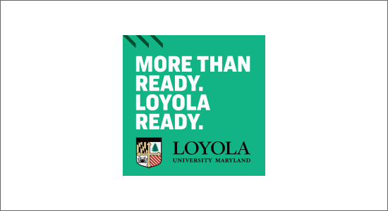 A green box with the text - More than Ready. Loyola Ready.