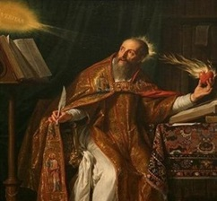 painting_of_St. Augustine_holding_a_flaming_heart