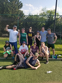 Loyola classics students softball game