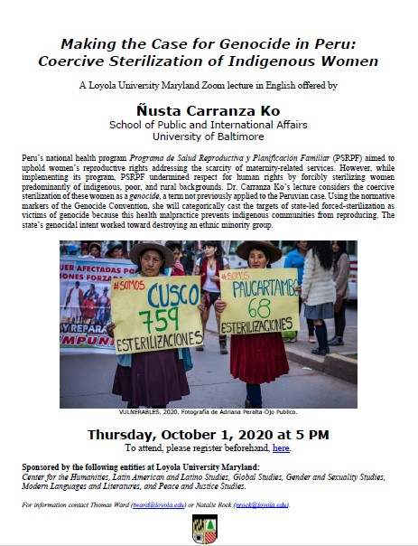 Peruvian Genocide Lecture