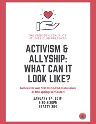 Activism and Allyship flyer