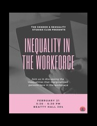 Workplace inequality flyer