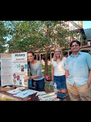 History Club members promoting History Department