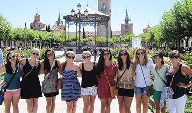 Loyola students in Spain