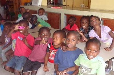 Group of young children from Haiti