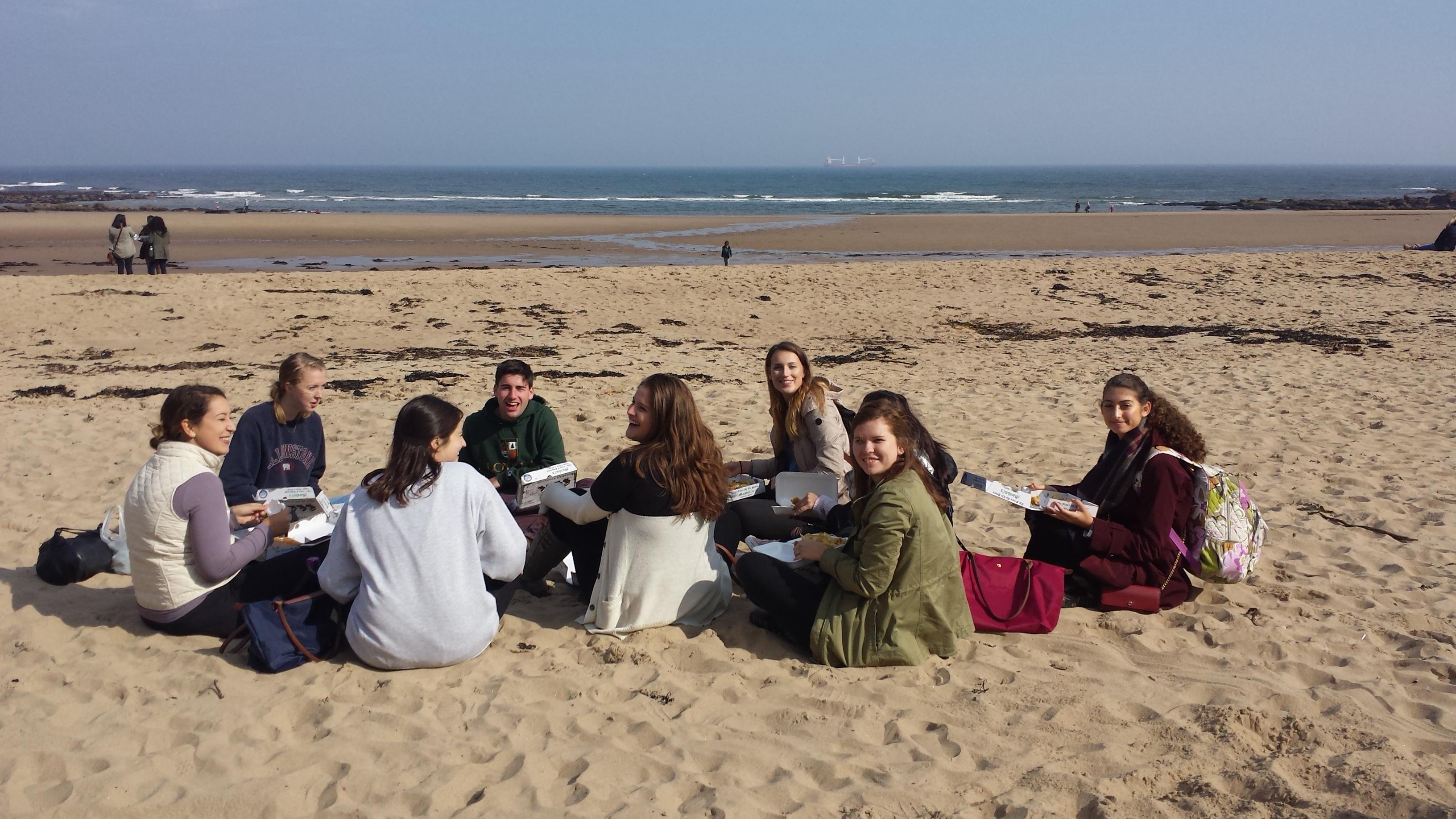 Students at Tynemouth