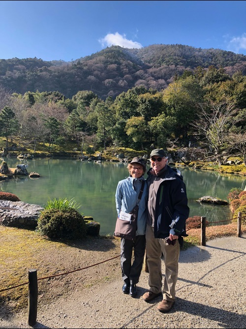 Amy Wolfson and husband Andrew Futterman in Japan