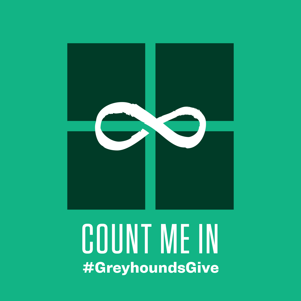 Greyhounds Give sharing image - count me in gift box
