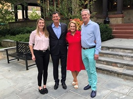 Nikki Frank, '17, and her father, Tim Frank, MBA '85, with Susie Simon, M.Ed. '81, and Nick Simon, MBA '84