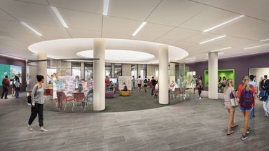 Rendering of The Center for Innovation and Collaborative Learning