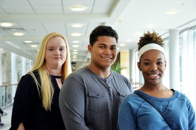 First-year students Faith Paysinger, Matthew Dorsey, and Faith Williams are recipients of the France-Merrick Scholarship.
