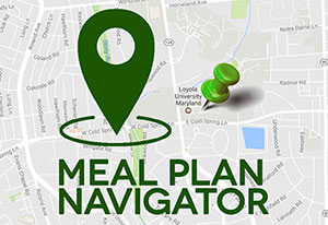 Map with text: 'Meal Plan Navigator'