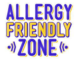 Text: 'Allergy Friendly Zone'