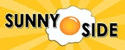 Sunny side up egg with text: 'Sunny Side'
