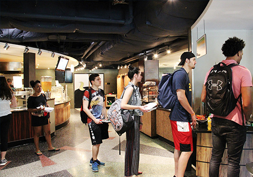 Students in line at Boulder Cafe