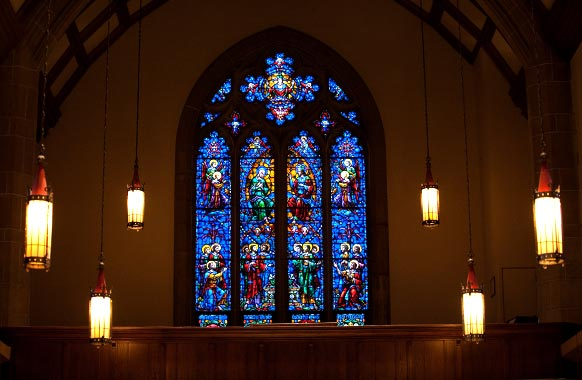 Loyola Chapel Stained Glass