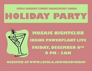 GSO Holiday Party Flyer 2013
