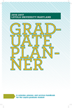 Cover page for Graduate Planner 2016-2017
