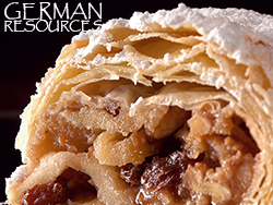 wiener apfelstrudel with links to german resources