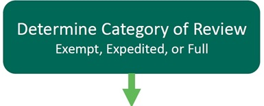 Step 3: Determine category of review(Exempt, Expedited, or Full)