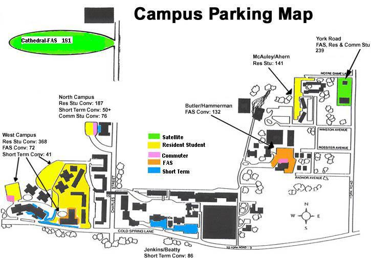 Parking Parking Transportation Loyola University Maryland