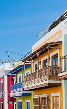 colorful houses in San Juan, PR