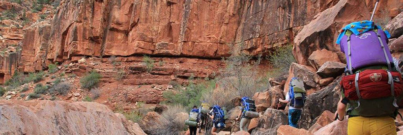 Backpackers in the American southwest