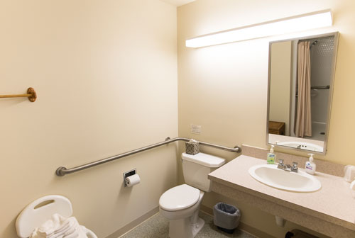View of accessibility bathroom