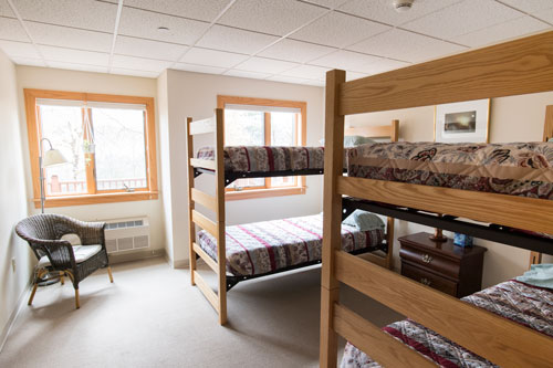View of Yarrow room with two bunk beds
