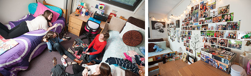 Collage of student residence halls