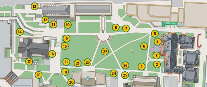 Campus Map University Of Maryland.Evergreen Quad Tree Map Arboretum Loyola University Maryland