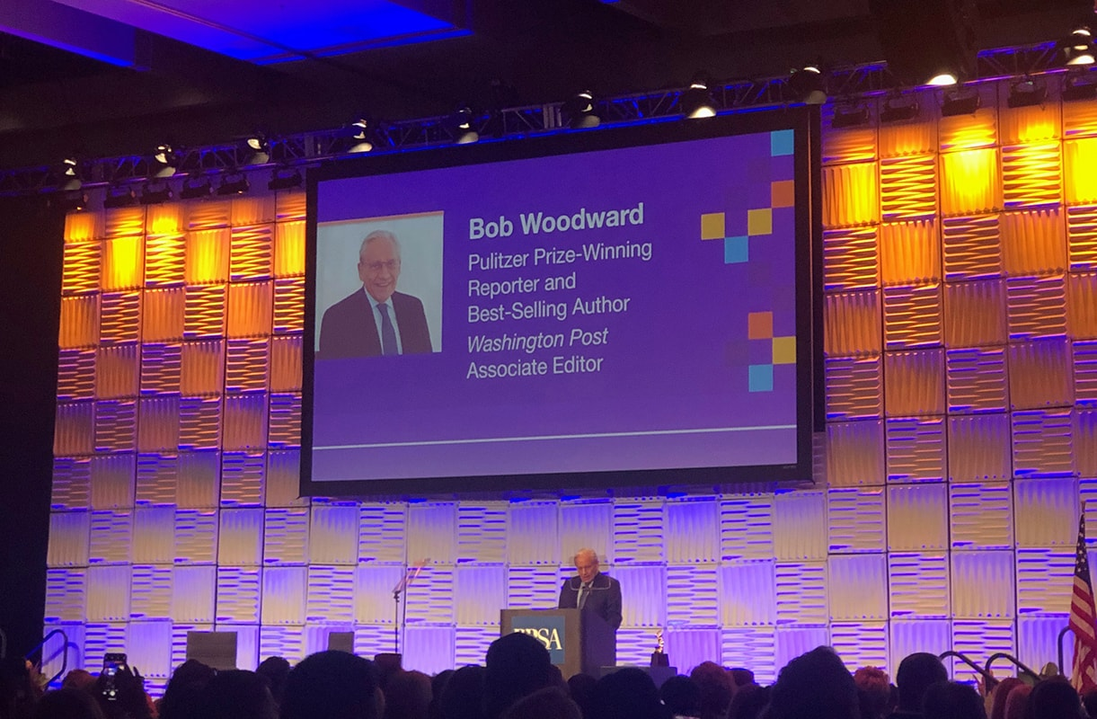 Bob Woodward speaking at the PRSSA International Conference in San Diego
