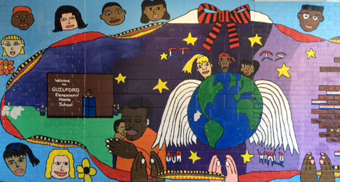 Mural at Guilford Elementary