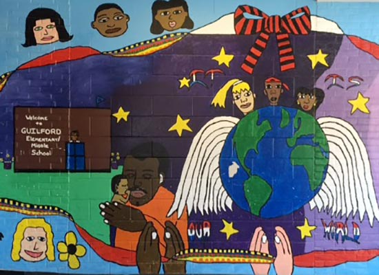 Mural at Guilford Elementary/Middle School