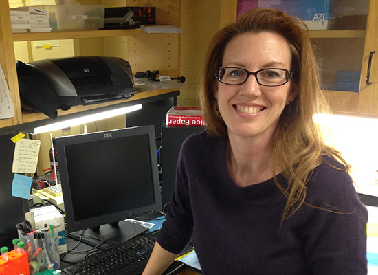 Rebecca Brogan, Ph.D., in her office.