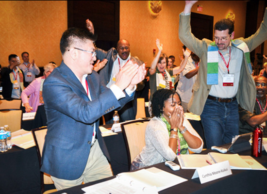 Cynthia-Moore Koikoi in blissful shock of being elected United Methodist Bishop.