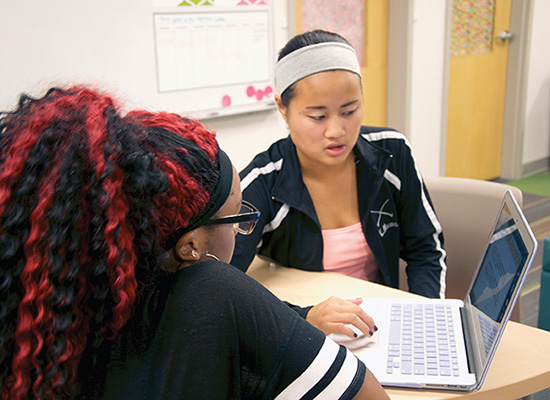 Loyola students tutors high school tutee.