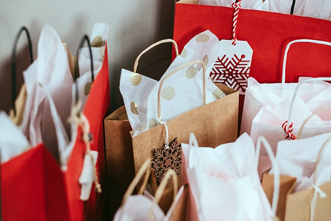 Group of decorative gift bags
