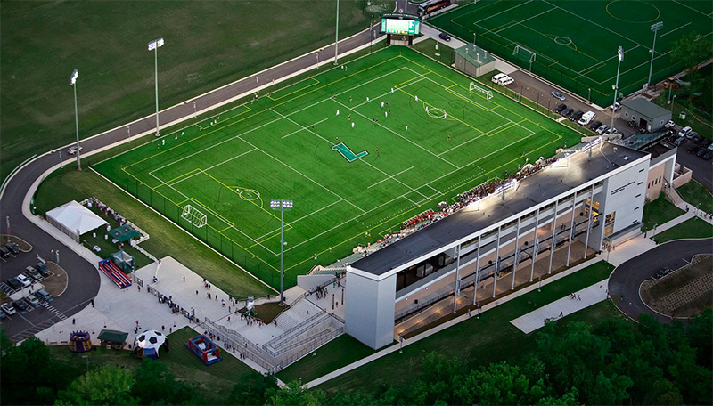 Birdseye view of Ridley Athletic Complex