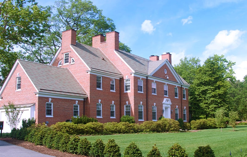 Exterior of the alumni house