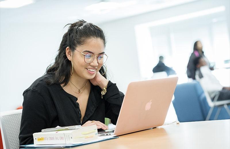 Loyola student studying