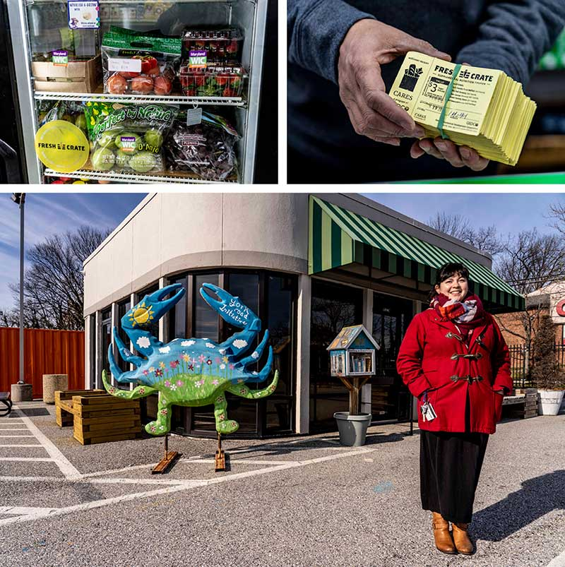 Marie McSweeney Anderson and food from the Freshcrate program