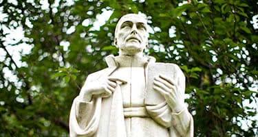 A statue of Ignatius Loyola