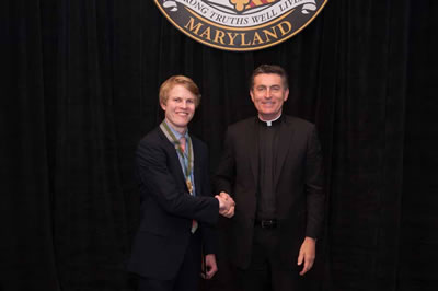 Mark Pierson and Father Linnane