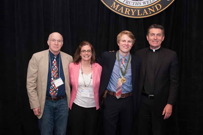 Martin Sherman, Beth Kotchick, Mark Pierson, and Father Linnane