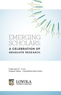 2012 Emerging Scholars program booklet cover