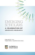 Emerging Scholars program cover 2015