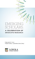 2013 Emerging Scholars program booklet cover