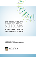 Cover for Emerging Scholars Program Booklet 2016